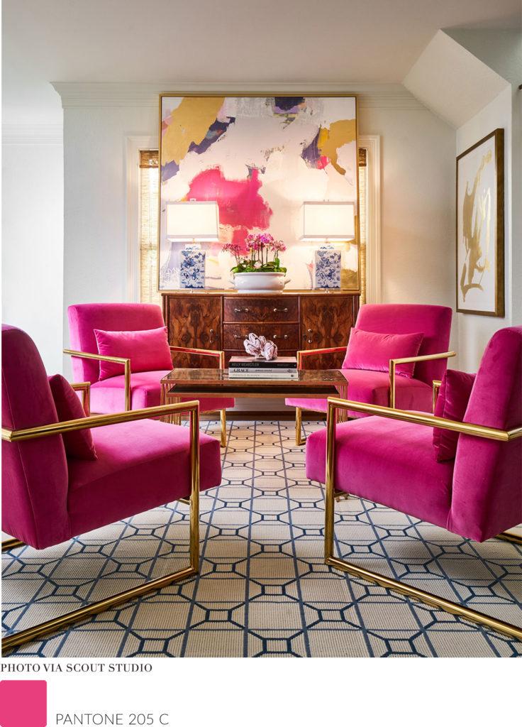 pantone 205C colour interior design