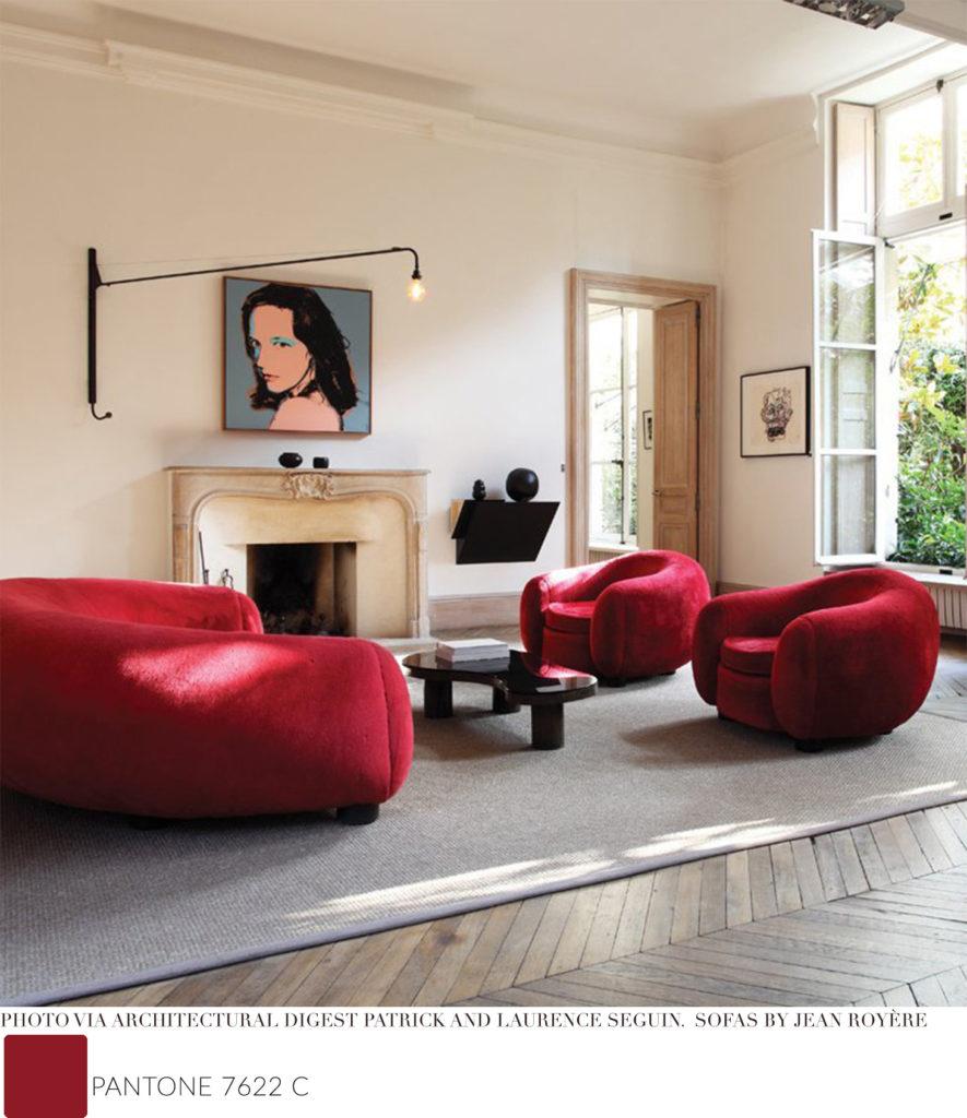 pantone 7266C interior design